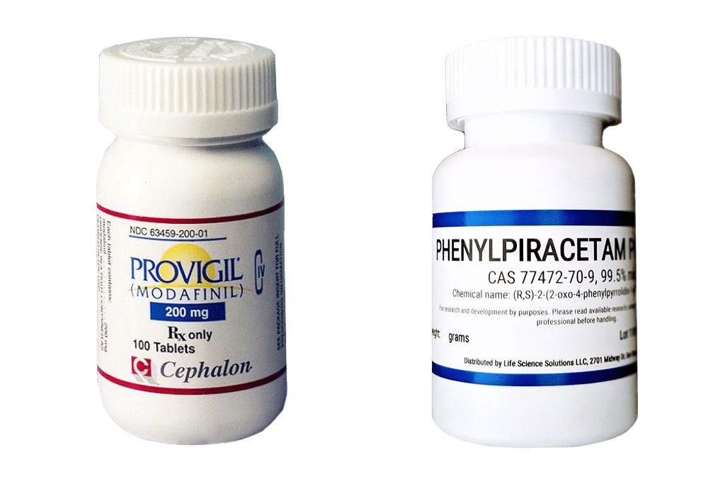Phenylpiracetam and Modafinil